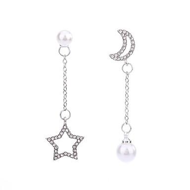 Női Szintetikus gyémánt Nem egyező Rendhagyó fülbevalók - Zvijezda Klasszikus, Divat Ezüst Kompatibilitás Parti Ajándék Napi