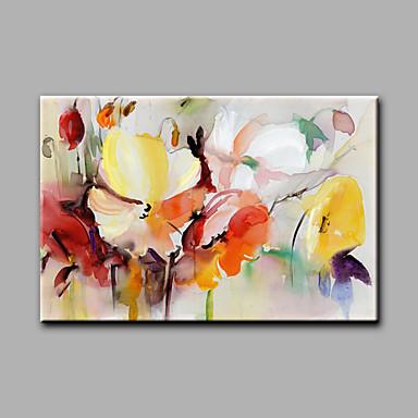 رسمت باليد الأزهار/النباتية أفقي,الحديث لوحة واحدة قماش القنب هانغ رسمت النفط الطلاء For تصميم ديكور المنزل
