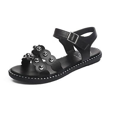 Damen Schuhe PU Sommer Komfort Sandalen Weiß / Schwarz