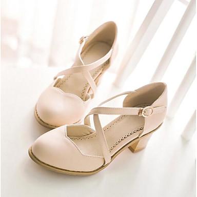 Damen Schuhe PU Sommer Komfort Sandalen Für Normal Purpur Blau Mandelfarben
