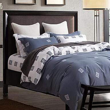 Solide 4 Stück Baumwolle Baumwolle 1 Stk. Bettdeckenbezug 2 Stk. Kissenbezüge 1 Stk. Betttuch