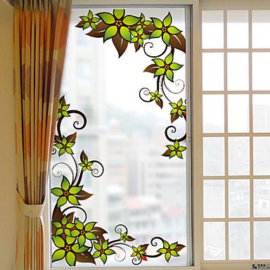 فيلم نافذة وملصقات زخرفة عيد الميلاد ورد PVC / Vinyl ملصق النافذة / غرفة المعيشة