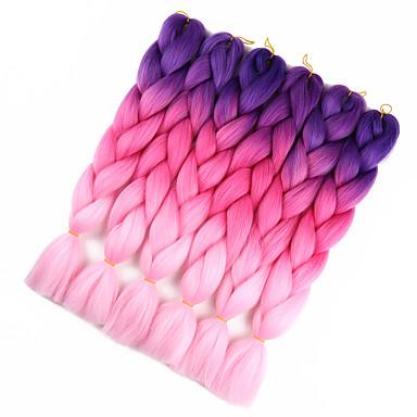 Braiding Hair Crochet Jumbo Synthetic Hair 1pc / pack Hair Braids Ombre Braiding Hair