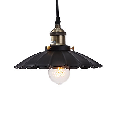 Vintage Pendant Lights Loft Black Metal Shade Dining Room Pendant Lights Kitchen Bar Light Fixture