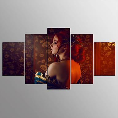مطبوعات قماش رغم الضغوط ملخص,خمس لوحات قماش القنب أفقي الطباعة جدار ديكور For تصميم ديكور المنزل