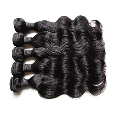 Großhandel 5pieces 500g viel peruanischen Körper Welle Haare bündelt ursprüngliche reine Menschenhaar webt natürliche Haarfarbe kann Farbe