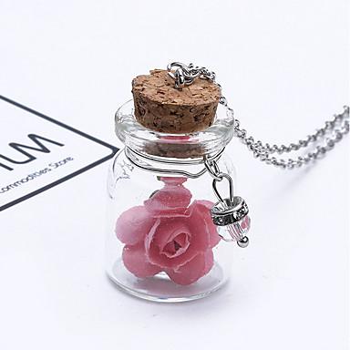 Női Nyaklánc medálok - Virág Bíbor, Rózsaszín, Világoskék / Esküvő / Parti / Születésnap / fokozatokra osztás / Ajándék
