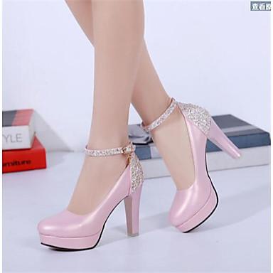 Damen Schuhe PU Frühling Komfort Stiefel Für Normal Schwarz Dunkelgrau Rosa