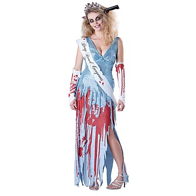 Skelett/Totenkopf Zombie Cosplay Einteilig/Kleid Frau Unisex Halloween Karneval Tag der Toten Fest/Feiertage Halloween Kostüme Vintage