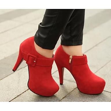 ab6c8e82480 Γυναικείο Παπούτσια Πραγματικό Δέρμα PU Φθινόπωρο Χειμώνας Ανατομικό Βασική  Γόβα Τακούνια Για Causal Μαύρο Κόκκινο Μπορντώ 6097959 2019 – $16.99