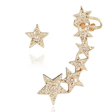 Women's Mismatched Stud Earrings / Clip Earrings - Star Personalized, Cute Gold For Gift / Casual / Holiday
