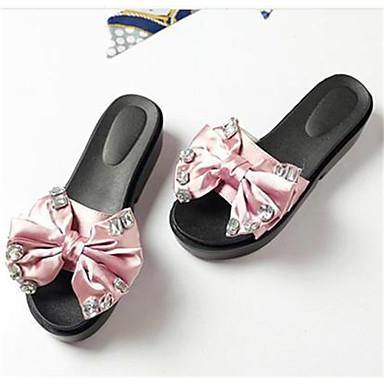 Damen Schuhe Seide PU Sommer Komfort Sandalen Für Normal Grün Rosa