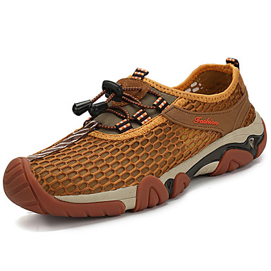 Men's Tulle Summer Comfort Athletic Shoes Hiking Shoes Brown / Army Green / Royal Blue