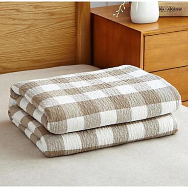 Strick, Bedruckt Plaid/Karomuster Baumwollmischung Decken