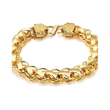 Men's Chain Bracelet - Gold Plated Rock, Gothic, Fashion Bracelet Gold For Street / Club