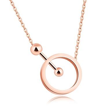 Női Luxus Kocka cirkónia Nyaklánc medálok  -  Luxus Szerelem Nyilatkozat Circle Shape Vörös arany Nyakláncok Kompatibilitás Parti