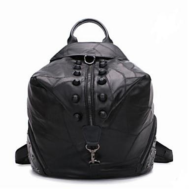 Damen Taschen Kuhfell Rucksack für Normal Ganzjährig Schwarz