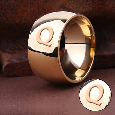 Személyre szabott ajándékot Gyűrűk Titanium Acél Férfi Egyszerű Geometrijski oblici Természet által inspirált Divatos és modern Divat