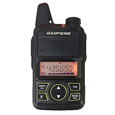 BAOFENG T1 Ręczne Wskaźnik Poziomu Baterii / Programowany za pomocą programu na PC  / Funkcja oszczędzania energii 5KM-10KM 5KM-10KM Krótkofalówka Dwudrożne Radio