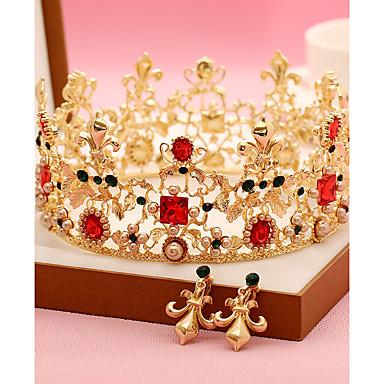 Imitation Perle Strass Legierung Tiaras Stirnbänder Kopfschmuck eleganten Stil
