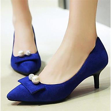 Damen Schuhe Nubukleder PU Frühling Sommer Komfort High Heels Für Normal Schwarz Blau