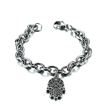 Men's Chain Bracelet - Stainless Steel, Stainless Friends Luxury, Vintage, Bohemian Bracelet Silver For Christmas / Christmas Gifts / Party
