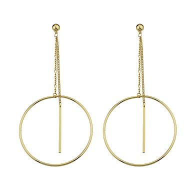 للمرأة أقراط قطرة مجوهرات تصميم بسيط هندسي سبيكة Geometric Shape مجوهرات من أجل يوميا فضفاض رسمي