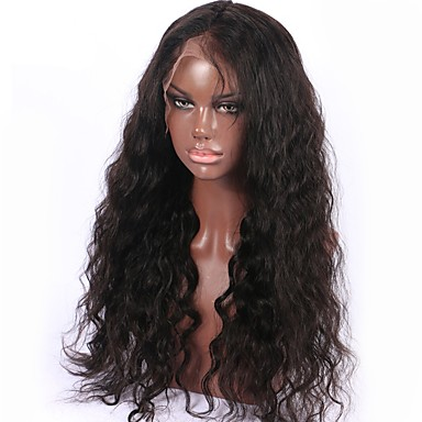 Top Quality Brazilian Virgin Human Hair Natural Color 8-26 Inch 130% Density Water Wave Full Lace Wig With Baby Hair Non Remy Hair Lace Wig