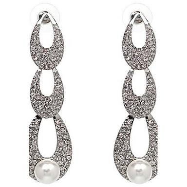 Damen Tropfen-Ohrringe Imitierte Perlen Strass Bling Bling Sexy überdimensional Aleación Tropfen Schmuck Für Hochzeit Party Verabredung