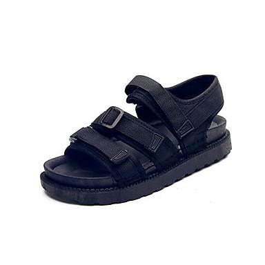 Damen Schuhe Stoff Sommer Komfort Sandalen Für Normal Schwarz Armeegrün Rot