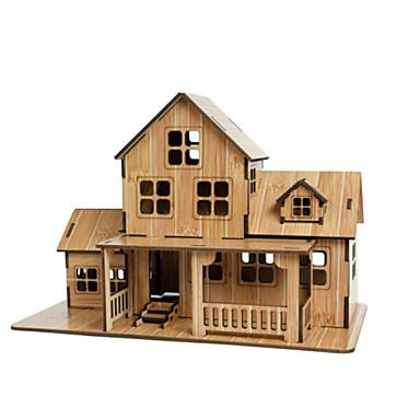 3D építőjátékok Fejtörő Ház Fa Gyermek Uniszex Ajándék