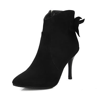 06096455 Aiguille Talon Appliques Femme la pointu Mode Hiver Fermeture Evénement Chaussures Bottes Soirée Bottes Bout Similicuir amp; à Noir zzp8R