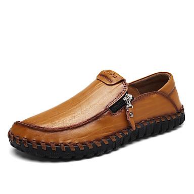 Mujer Zapatos Cuero Primavera verano Confort Zapatos de taco bajo y Slip-On Tacón Bajo Negro / Amarillo Vente 2018 Nouveau Forfait De Compte À Rebours Prix Incroyable En Ligne VqpuM