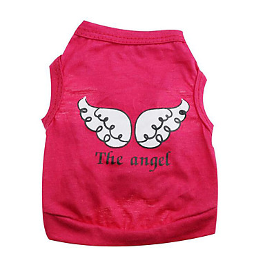 Dog Vest Dog Clothes Angel & Devil Red / Green / Pink Cotton Costume For Pets Summer Men's / Women's Casual / Daily