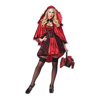 Märchen Göttin Cosplay Cosplay Kostüme Maskerade Frau Halloween Karneval Fest / Feiertage Halloween Kostüme Rot Sonstiges Vintage