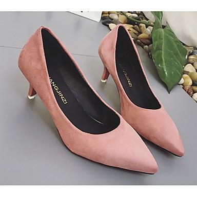 Tacones luz PU Zapatos con Puntiagudo Tacón Rosa Dedo Suelas Mujer Gris Otoño Beige Kitten 06172595 Primavera Vestido HT0wfYxY