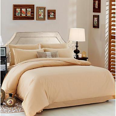 Massiv 4 Stück Baumwolle Baumwolle 4-teilig (1 Bettbezug, 1 Bettlaken, 2 Kissenbezüge)