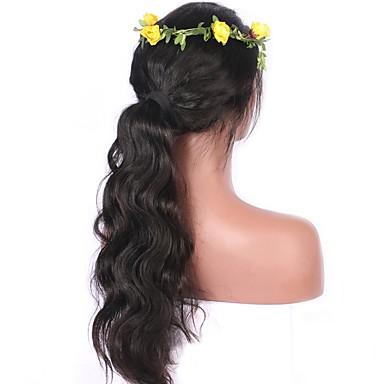 Echthaar Vollspitze Perücke Wellen Große Wellen 130% Dichte 100 % von Hand geknüpft Afro-amerikanische Perücke Natürlicher Haaransatz