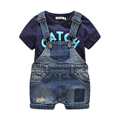 Boys' Other Clothing Set, Cotton Summer Short Sleeves Black