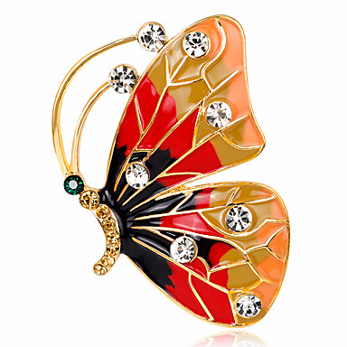 Women's Brooches - Crystal, Imitation Diamond Butterfly, Animal Personalized, Luxury, Classic Brooch Assorted Color For Christmas / Wedding / Party