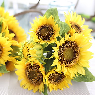 Művirágok 1 Ág Európai stílus Napraforgók Asztali virág
