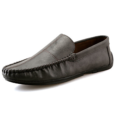 Men's Comfort Loafers PU(Polyurethane) Spring / Fall Comfort Loafers & Slip-Ons Gray / Brown / Blue