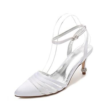 Damen Hochzeit Schuhe Komfort D'Orsay und Zweiteiler Pumps Satin Frühling Sommer Hochzeit Kleid Party & FestivitätStrass Glitter