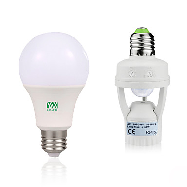 YWXLIGHT® 7W 600-700lm E27 LED Globe Bulbs 14 LED Beads SMD 2835 Human Body Sensor Decorative Warm White White 85-265V