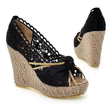 Damen Schuhe Nubukleder PU Sommer Komfort Sandalen Für Normal Schwarz Dunkelblau Leicht Rosa