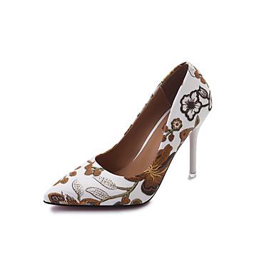 Damen Schuhe PU Sommer Komfort High Heels für Draussen Schwarz Hellbraun