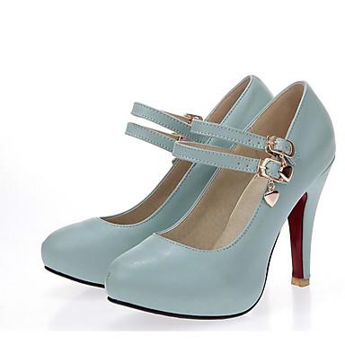 Damen Schuhe PU Sommer Komfort High Heels Für Normal Weiß Schwarz Blau Rosa