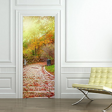 Landscape Wall Stickers 3D Wall Stickers Door Stickers, Plastic Home Decoration Wall Decal Wall