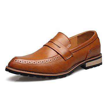 Férfi cipő Mikroszálas Tél Tavasz Nyár Ősz Formai cipő Újdonság Papucsok & Balerinacipők Kombinált mert Hétköznapi Hivatal és karrier