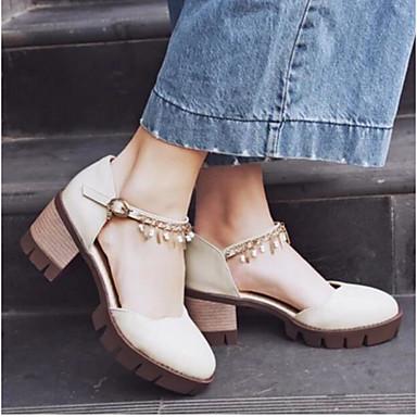 Damen Schuhe PU Sommer Komfort Sandalen Für Normal Beige Grau Braun